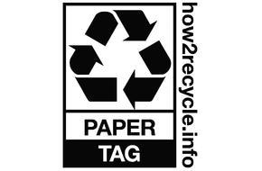 艾利丹尼森的RFID纸质挂签获得How2Recycle认证标签